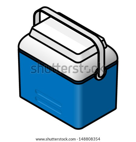 A camping cooler chest. - stock vector