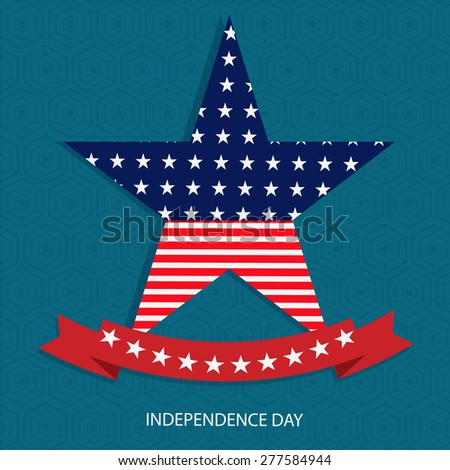 A card of 4th of july Independence Day celebrations. - stock vector