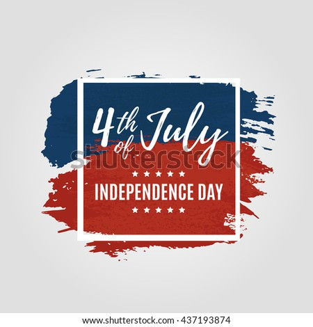 A card of 4th of july Independence Day celebrations lettering. Vector illustration. EPS 10 - stock vector