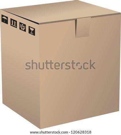 A Cardboard Box - stock vector