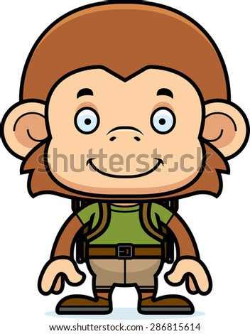 Scared Safari Kids Vector Clip Art Stock Vector 437533042 ...  |Scared Monkey Animation