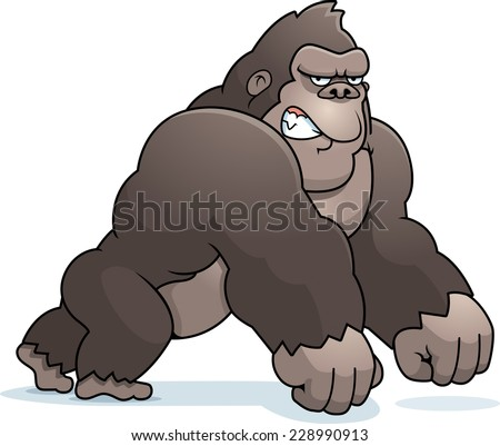 Angry Gorilla Stock Images, Royalty-Free Images & Vectors ... - photo#9