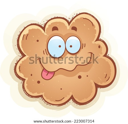 A cartoon illustration of a fart smiling. - stock vector
