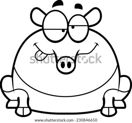 Coloring cute cartoon animals collection cool stock vector for Tapir coloring page