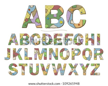Cute Girly Alphabet Letters