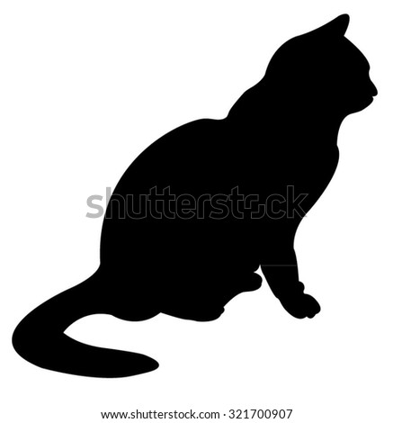 Black Cat Silhouette Stock Images, Royalty-Free Images & Vectors ...