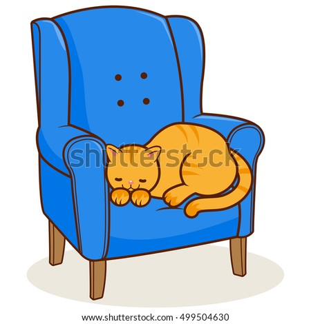 Cat On A Chair Stock Images Royalty Free Images Amp Vectors
