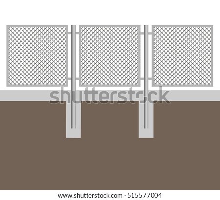 Broken Chain Link Fence Vector chain link fence stock images, royalty-free images & vectors