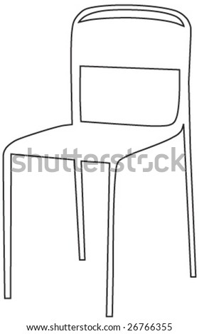 a chair - stock vector