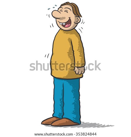a character with funny smile - stock vector