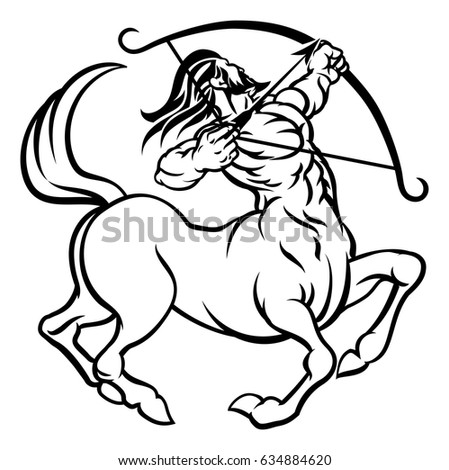 sagittarius stock images royalty free images vectors shutterstock cancer horoscope coloring pages free coloring