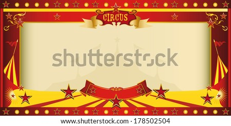 A circus vintage invitation for your publicity - stock vector