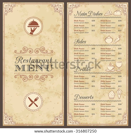 Chef Menu Blank Page Stock Images, Royalty-Free Images & Vectors