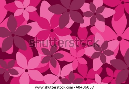 A classy retro style floral pattern - stock vector