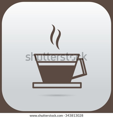 a coffee cup icon Vector illustration EPS 10 - stock vector