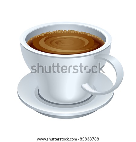A coffee cup vector illustration - stock vector