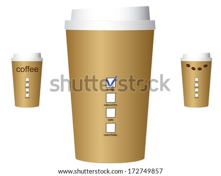 A coffee cups vector illustration, eps10.