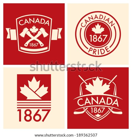 A collection of Canadian shields and crests in vector format.