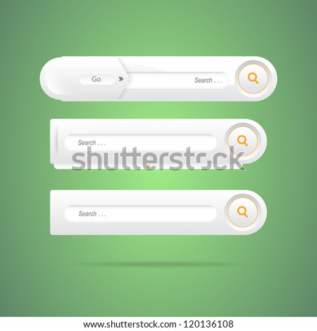 A collection of search form - stock vector