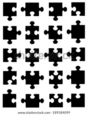 A Collection Of Vector Jigsaw Puzzle Pieces