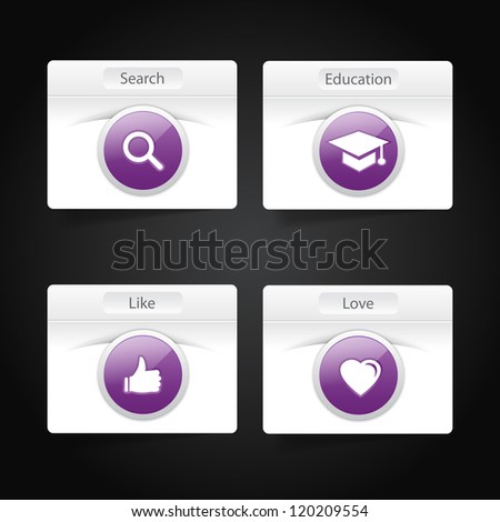 A collection of web buttons - stock vector