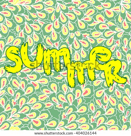 A colorful image in pop art style.  Summer.