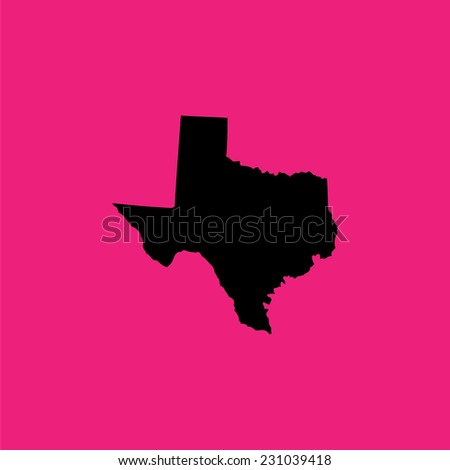 A Coloured background with the shape of the united states state of Texas - stock vector