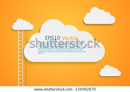 a competition concept with clouds, eps10 vector background