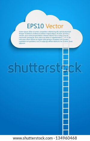 a comptition concept with clods and ladder, eps10 vector - stock vector