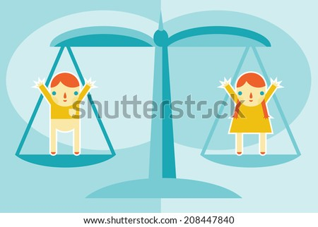 A concept for gender equality and women's rights. - stock vector
