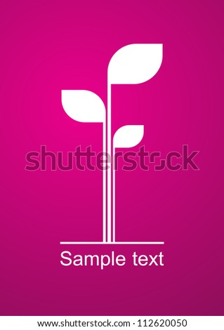 A concept of a young plant - stock vector