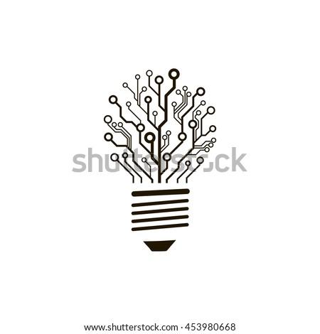 Dark Green Light Bulb