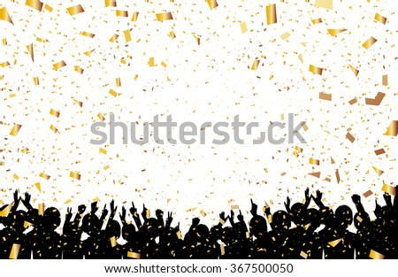 A crowd of people. Vector illustration - stock vector