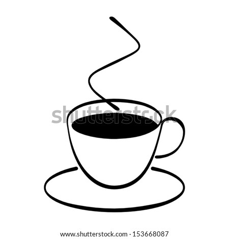 A cup of coffee in vector format.