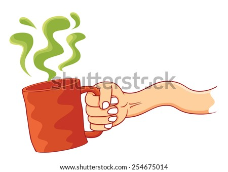 a cup of poison - stock vector