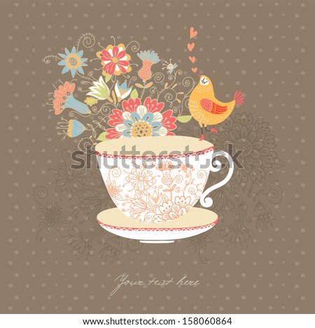 A cup of tea?  - stock vector