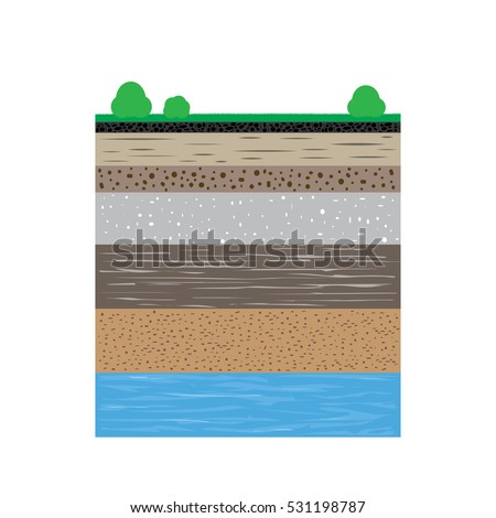 Soil layers stock images royalty free images vectors for Why the soil forms layers in water