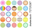 A Cute Collection of Vector Labels / Cards / Tags, pastel colors isolated on white. - stock vector