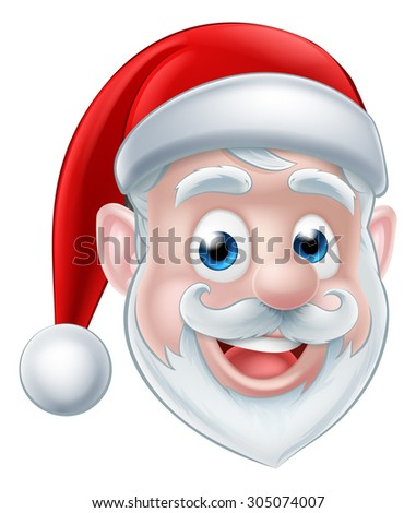 A cute happy cartoon Santa Christmas character