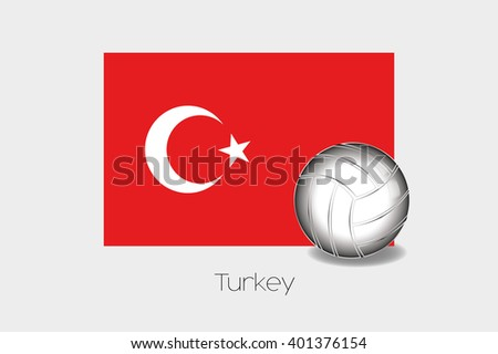 A 3D Football Illustration with the Flag of Turkey - stock vector