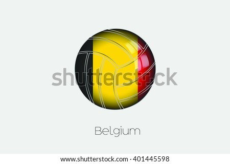 A 3D Football with a Flag Illustration of Belgium - stock vector