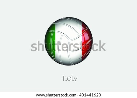 A 3D Football with a Flag Illustration of Italy - stock vector