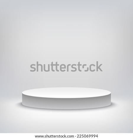 A 3d illustration of blank template layout of white empty musical, theater, concert or entertainment stage.