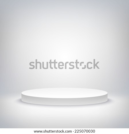 A 3d illustration of blank template layout of white empty musical, theater, concert or entertainment stage. - stock vector