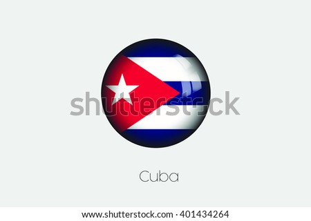 A 3D Orb with a Flag Illustration of Cuba - stock vector