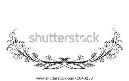 A decorative border - stock vector
