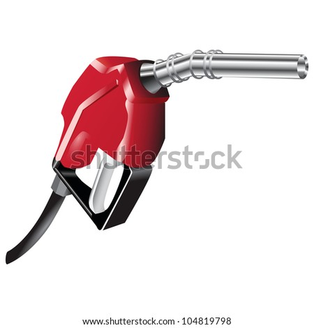 A device for filling the car with petrol. Vector illustration. - stock vector