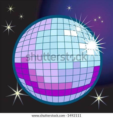 a disco or mirror ball - stock vector