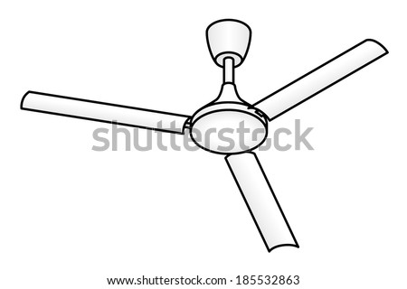 Ceiling fan blades stock images royalty free images vectors a domestic ceiling fan mozeypictures Images
