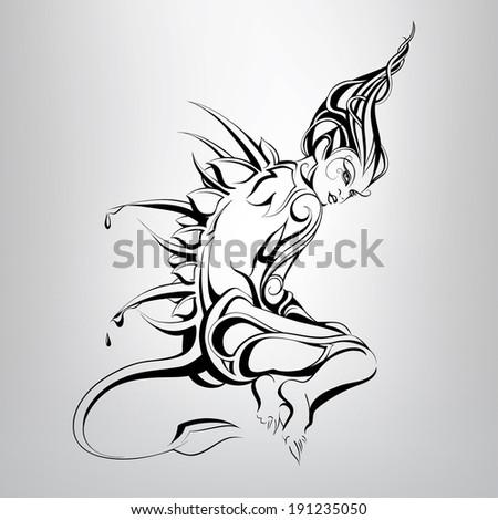 A fabulous creature. vector illustration - stock vector